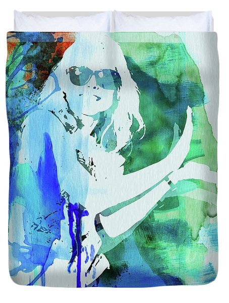 Legendary Blondie Watercolor Duvet Cover