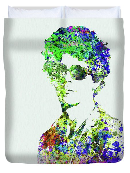 Legendary Bob Dylan Watercolor Duvet Cover