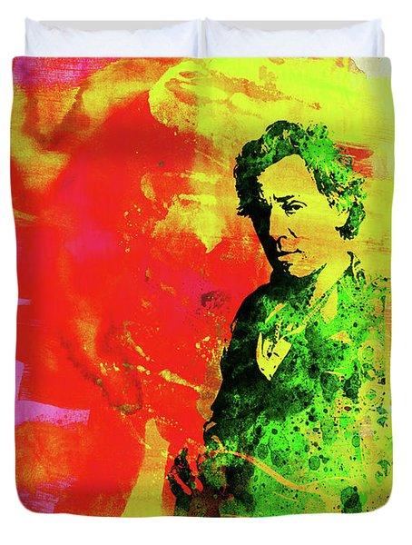 Legendary Bruce Watercolor Duvet Cover