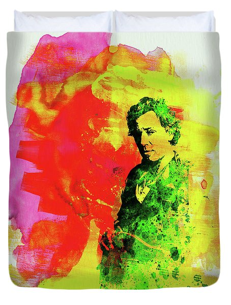 Legendary Bruce Watercolor Duvet Cover