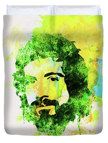 Legendary Cat Stevens Watercolor Duvet Cover