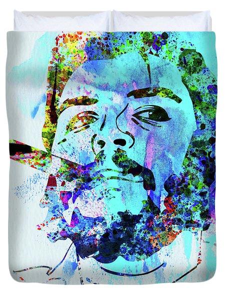 Legendary Che Watercolor Duvet Cover
