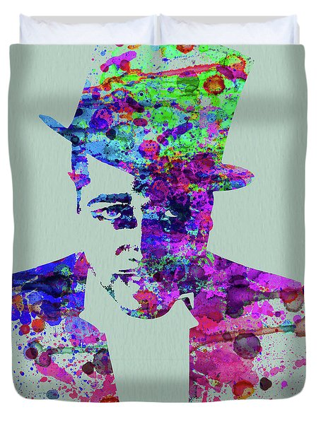 Legendary Duke Ellington Watercolor Duvet Cover
