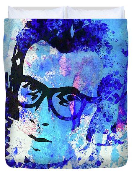 Legendary Elvis Costello Watercolor Duvet Cover