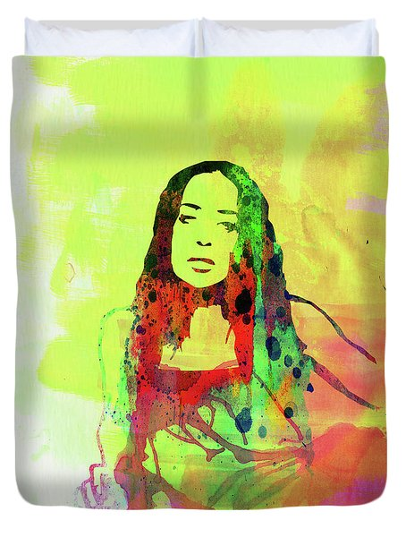 Legendary Fiona Apple Watercolor Duvet Cover
