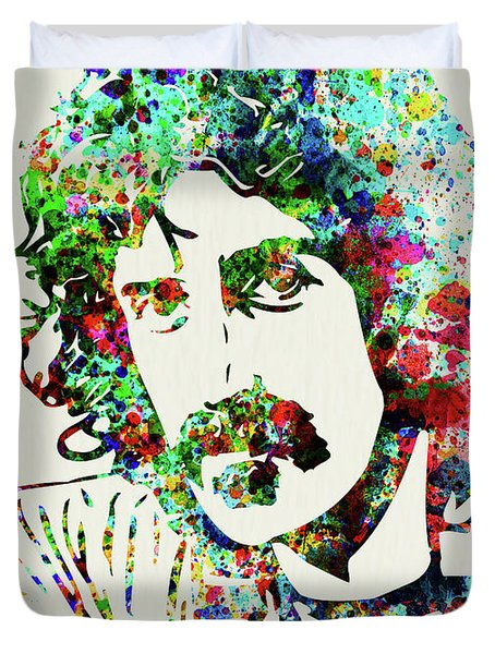 Legendary Frank Zappa Watercolor Duvet Cover