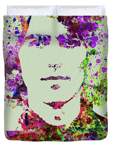 Legendary George Harrison Watercolor II Duvet Cover