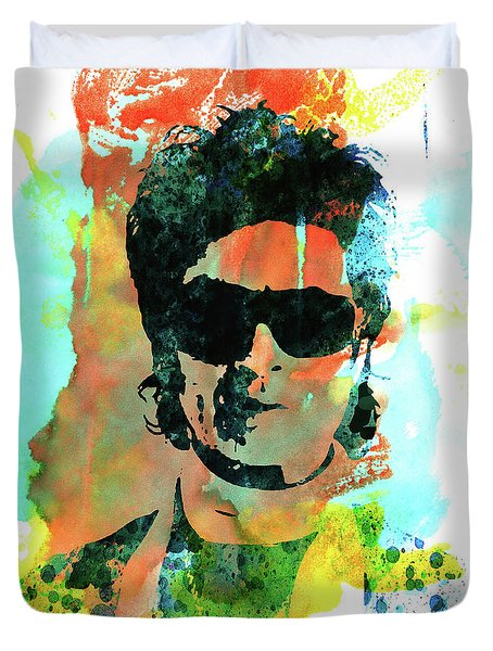 Legendary Glenn Hughes Watercolor Duvet Cover