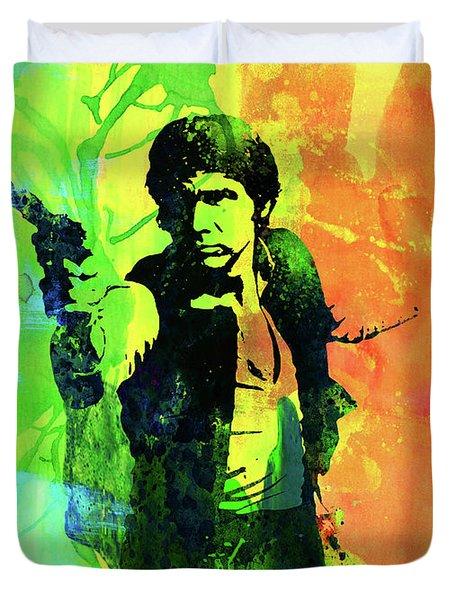 Legendary Han Solo Watercolor Duvet Cover