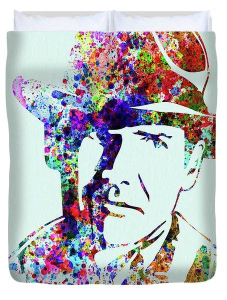 Legendary Indiana Jones Watercolor Duvet Cover
