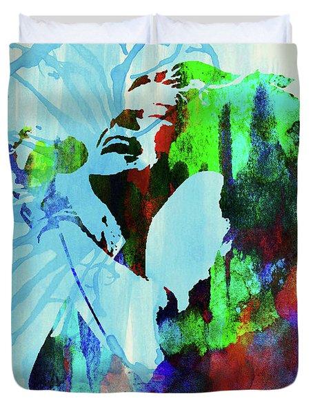 Legendary Janis Joplin Watercolor Duvet Cover