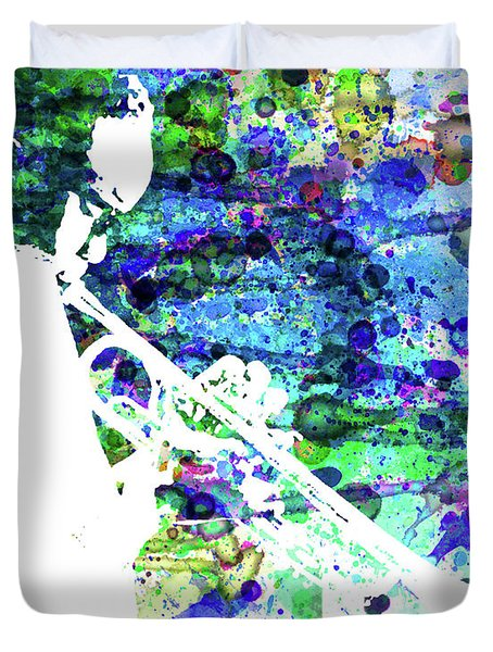 Legendary Jazz Watercolor  Duvet Cover