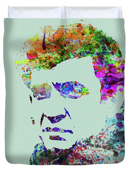 Legendary Johnny Cash Watercolor Duvet Cover