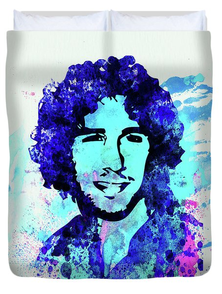 Legendary Josh Groban Watercolor Duvet Cover