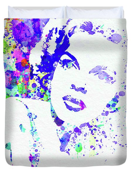 Legendary Judy Garland Watercolor I Duvet Cover