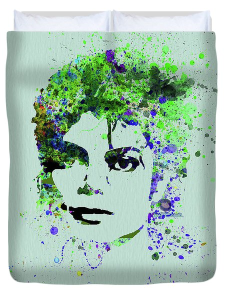 Legendary Michael Watercolor II Duvet Cover