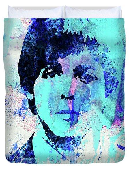 Legendary Paul Watercolor Duvet Cover