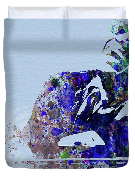 Legendary Ray Charles Watercolor Duvet Cover