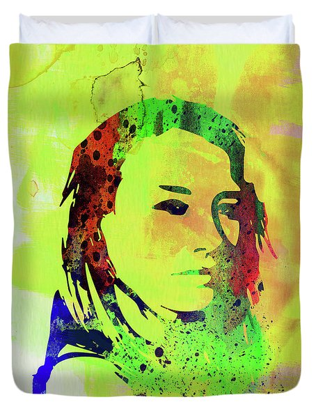 Legendary Tori Amos Watercolor Duvet Cover