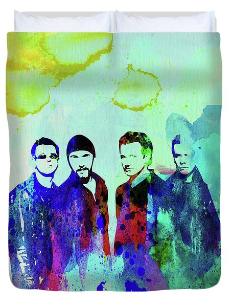 Legendary U2 Watercolor Duvet Cover