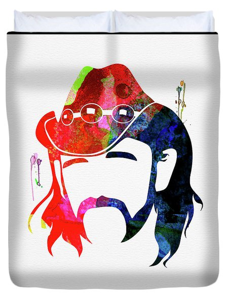 Lemmy Watercolor Duvet Cover