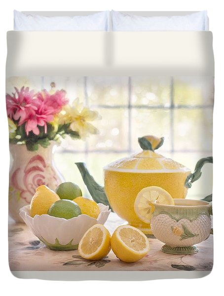 Lemon Tea  Duvet Cover