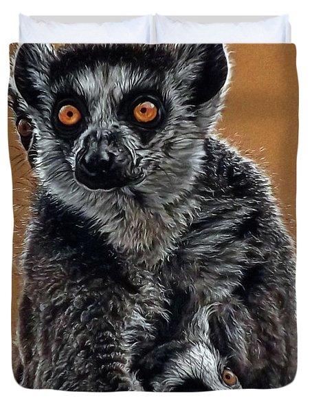 Lemurs Duvet Cover