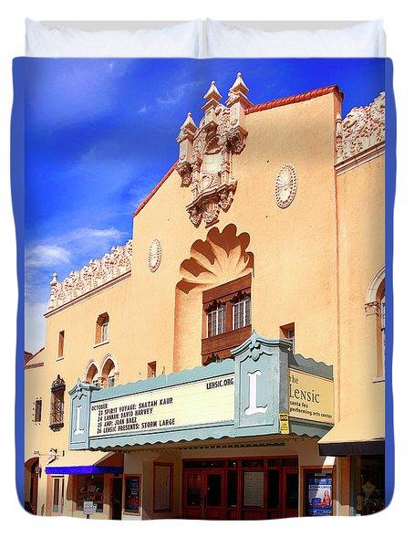 Lensic Performing Arts Center Duvet Cover