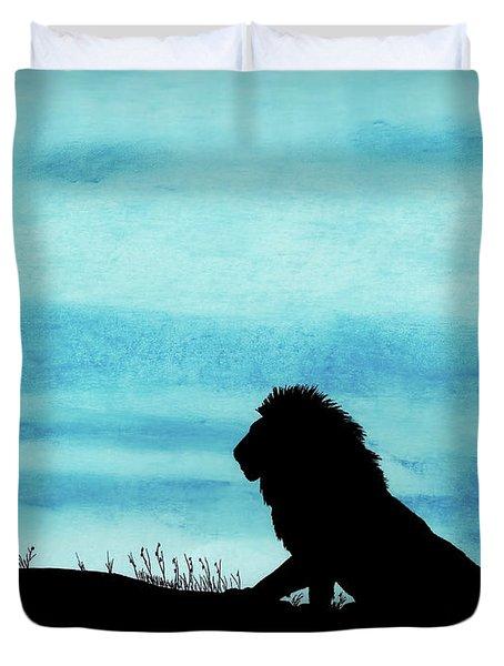 Leo At Sunset Duvet Cover