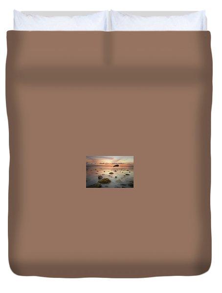 Malibu Sunset Duvet Cover