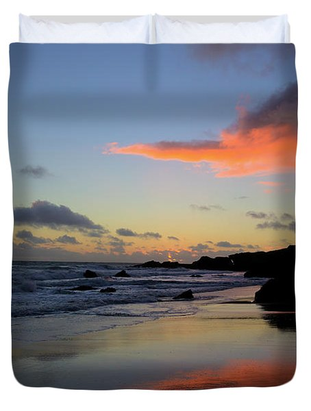 Leo Carrillo Sunset II Duvet Cover