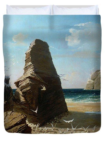 Les Petites Mouettes, Small Seagulls Duvet Cover