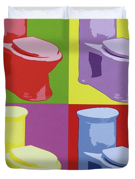 Les Toilettes  Duvet Cover