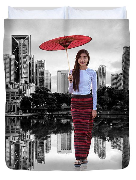 Let The City Be Your Stage Duvet Cover