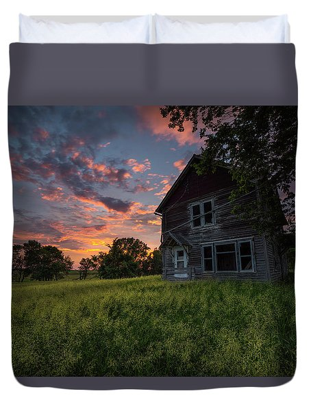 Duvet Cover featuring the photograph Letters From Home by Aaron J Groen