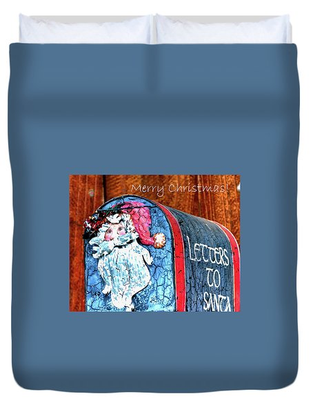 Duvet Cover featuring the photograph Letters To Santa Greeting by Jerry Sodorff
