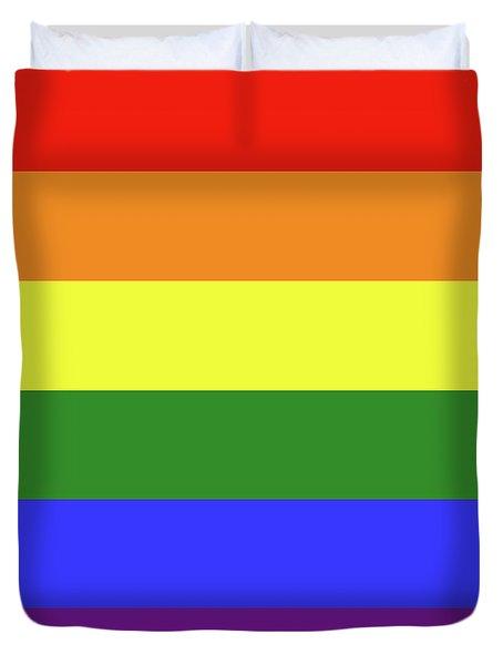 Lgbt 6 Color Rainbow Flag Duvet Cover