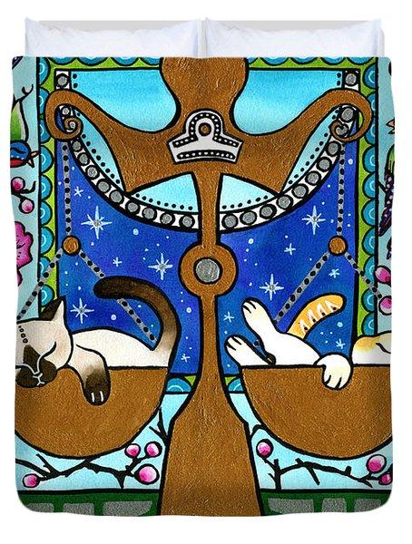 Libra Cat Zodiac Duvet Cover