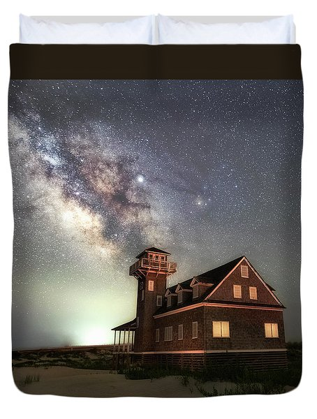 Duvet Cover featuring the photograph Life Under The Stars by Russell Pugh