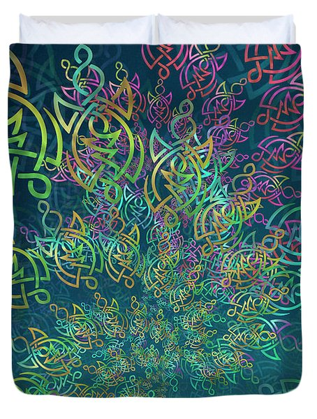 Duvet Cover featuring the digital art Life by Vitaly Mishurovsky