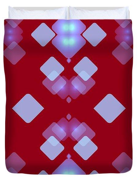 Light Dreams In Red Duvet Cover