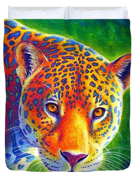 Light In The Rainforest - Jaguar Duvet Cover