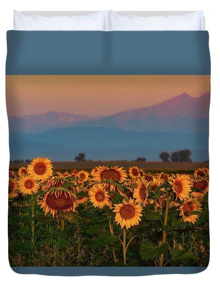 Light Of The Sunflowers Duvet Cover