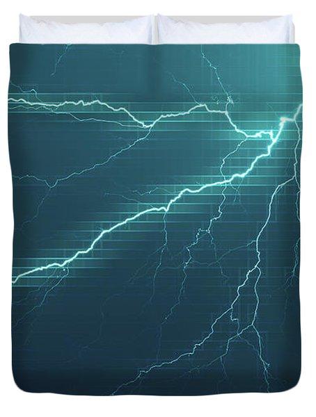 Lightning Grid Duvet Cover