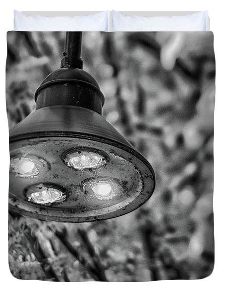 Lights In Town Duvet Cover