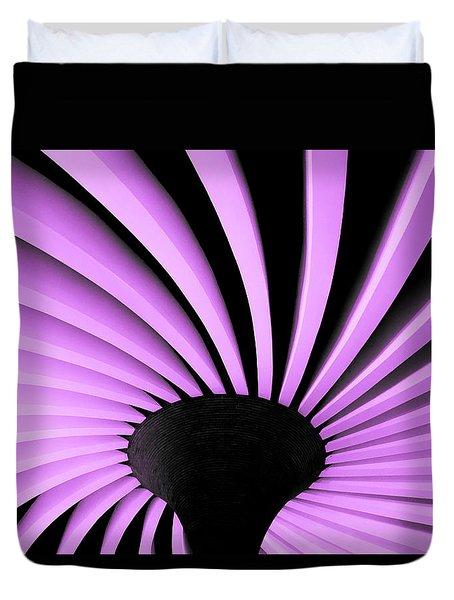 Lilac Fan Ceiling Duvet Cover