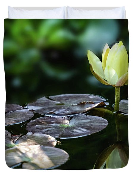 Lily In The Pond Duvet Cover