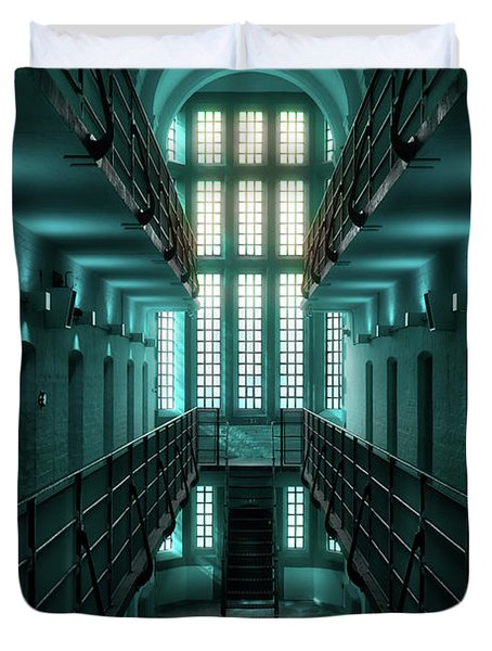 Lincoln Castle Prison In Blue Duvet Cover