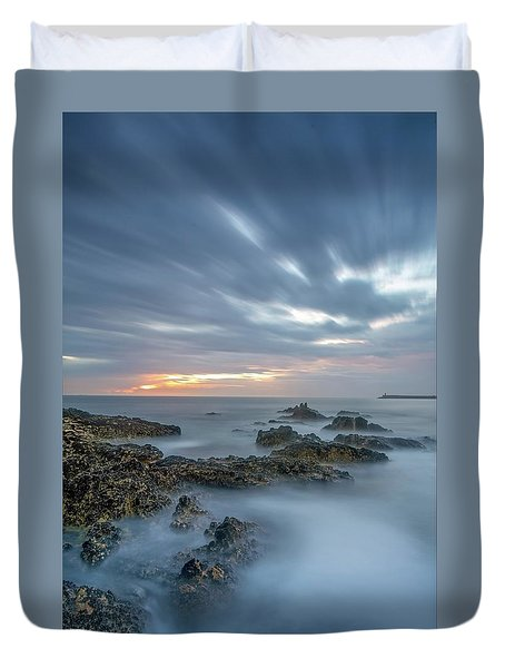 Duvet Cover featuring the photograph Lines - Matosinhos 2 by Bruno Rosa