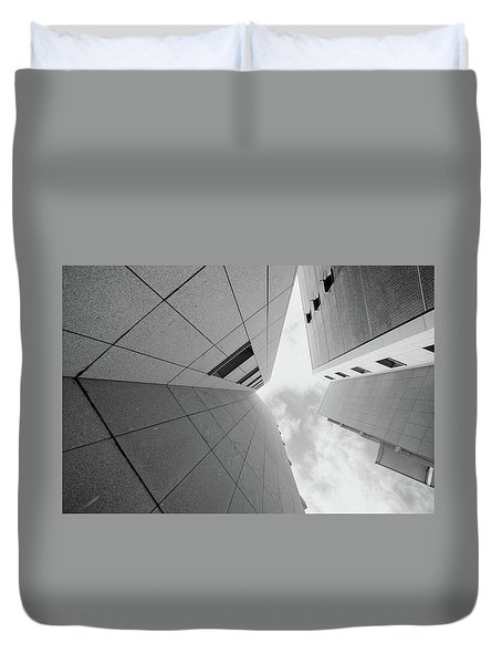 Duvet Cover featuring the photograph Lines - Matosinhos by Bruno Rosa